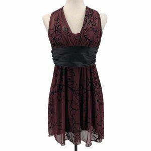 Speechless Womens Halter Cocktail Dress Brown S